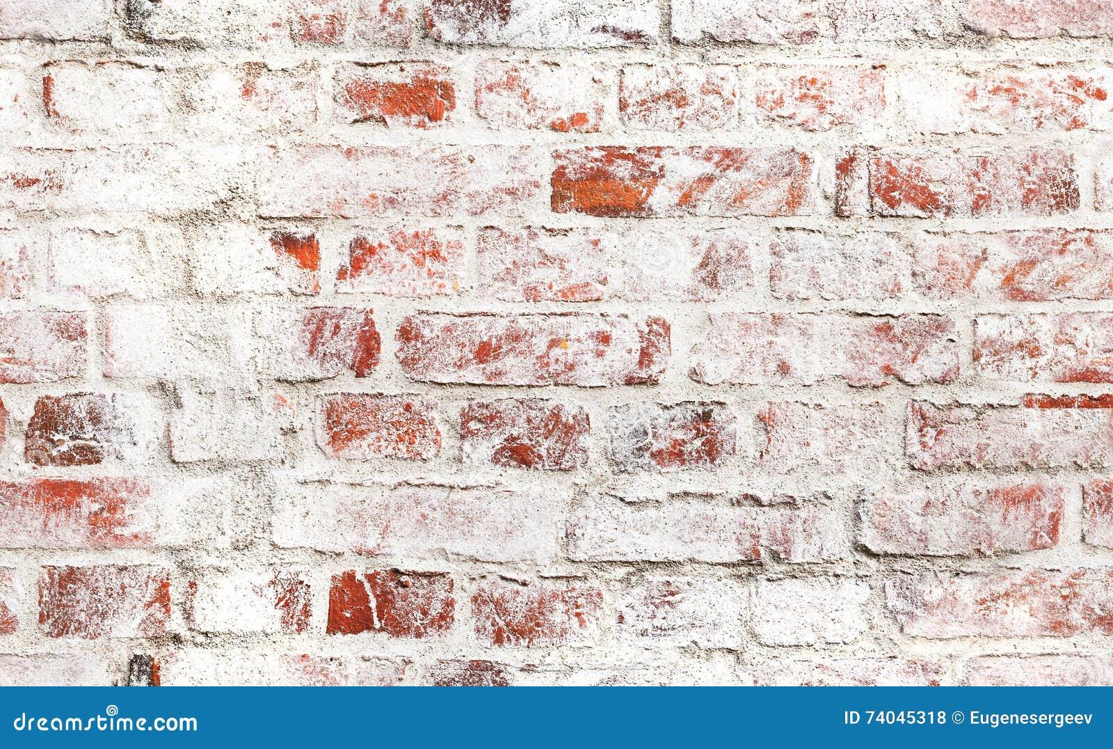 vieux mur de briques rouge avec la peinture blanche. Black Bedroom Furniture Sets. Home Design Ideas
