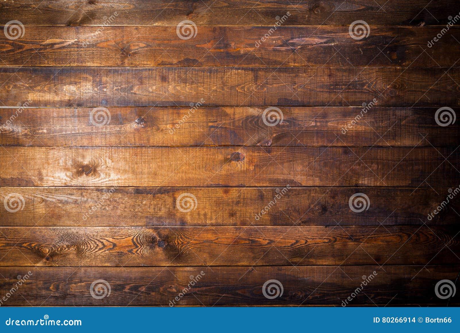 Vieux mur en bois brun