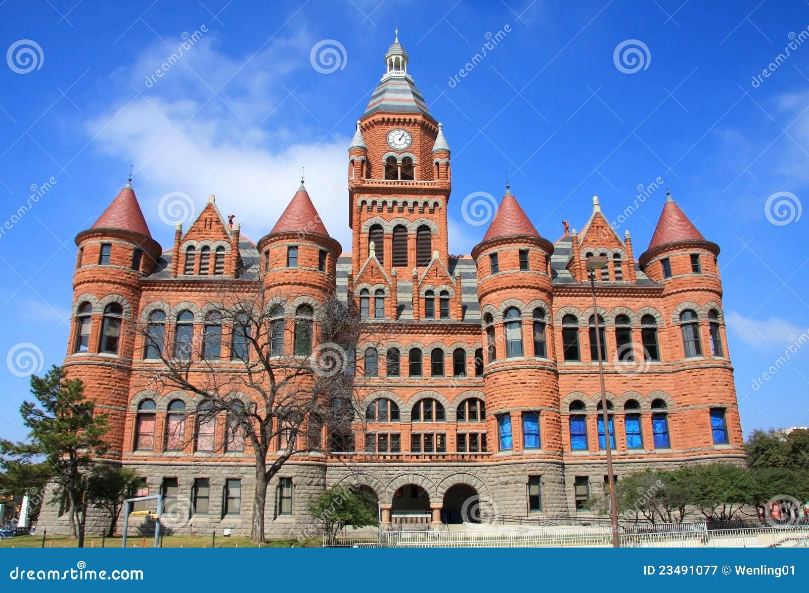 Vieux musée rouge à Dallas, le Texas