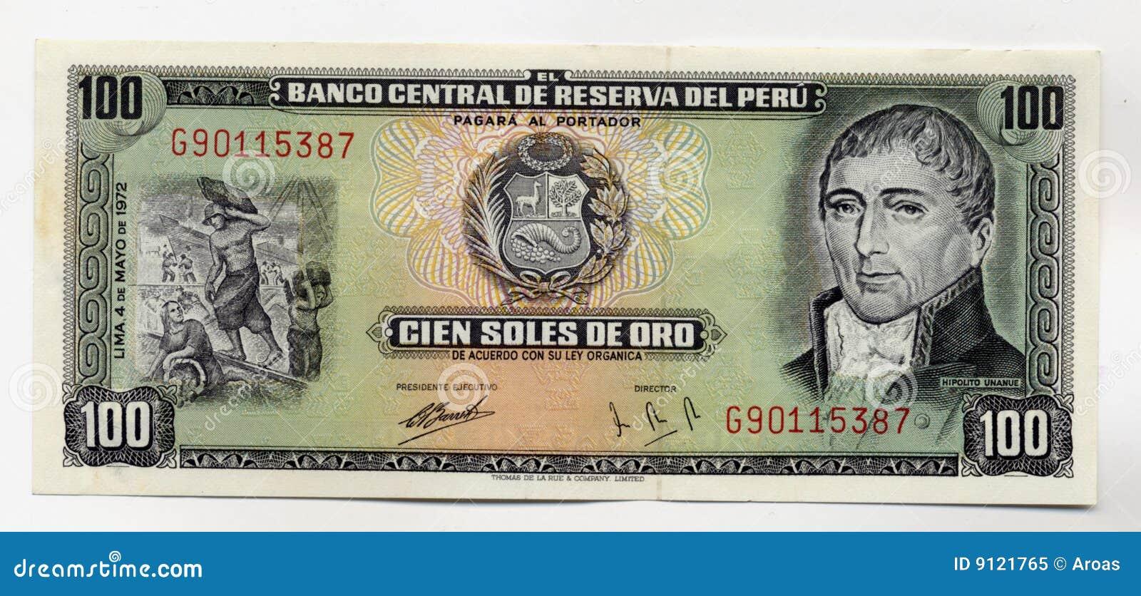billet de banque peruvien