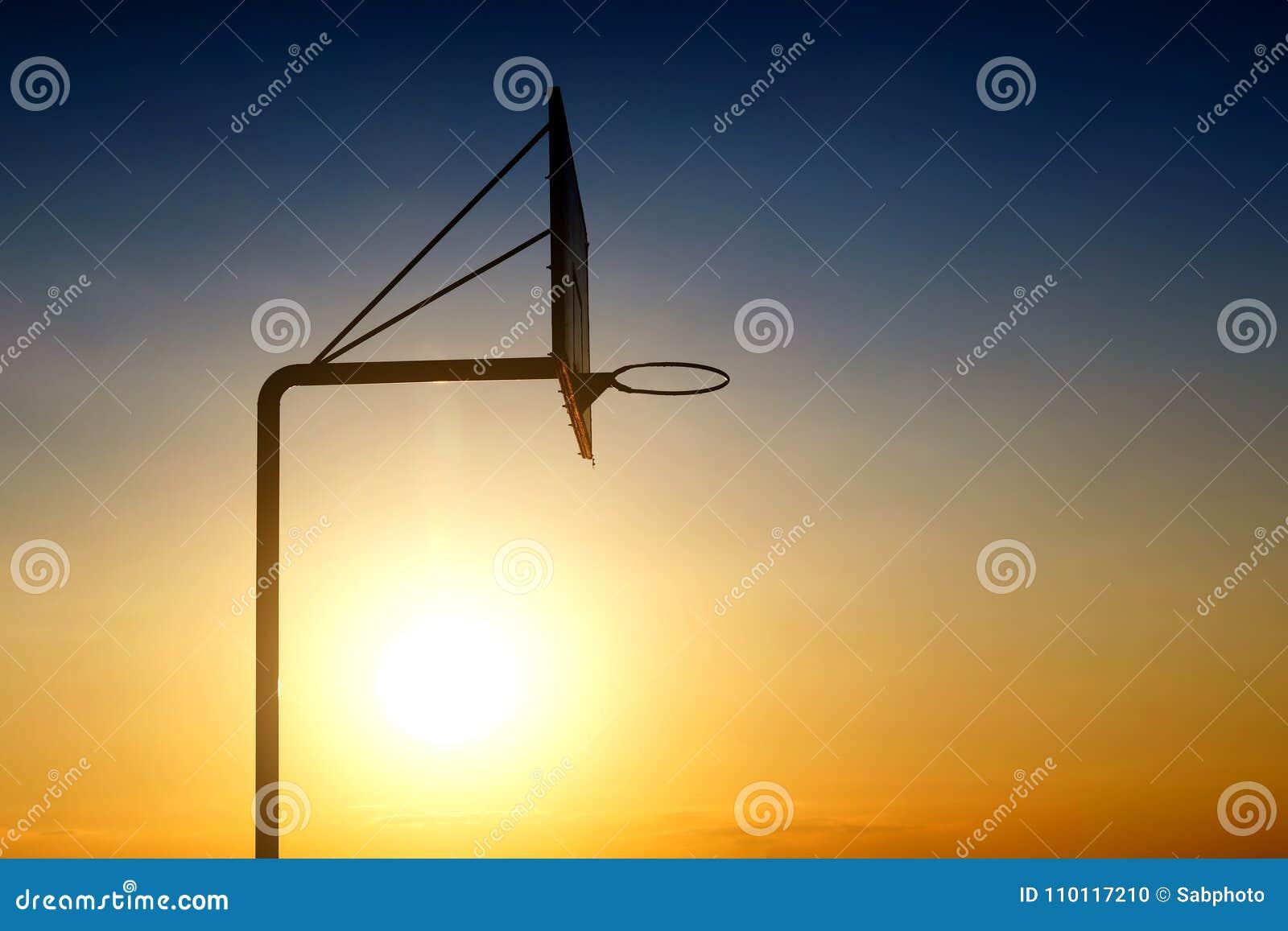 Vieux panneau de basket-ball