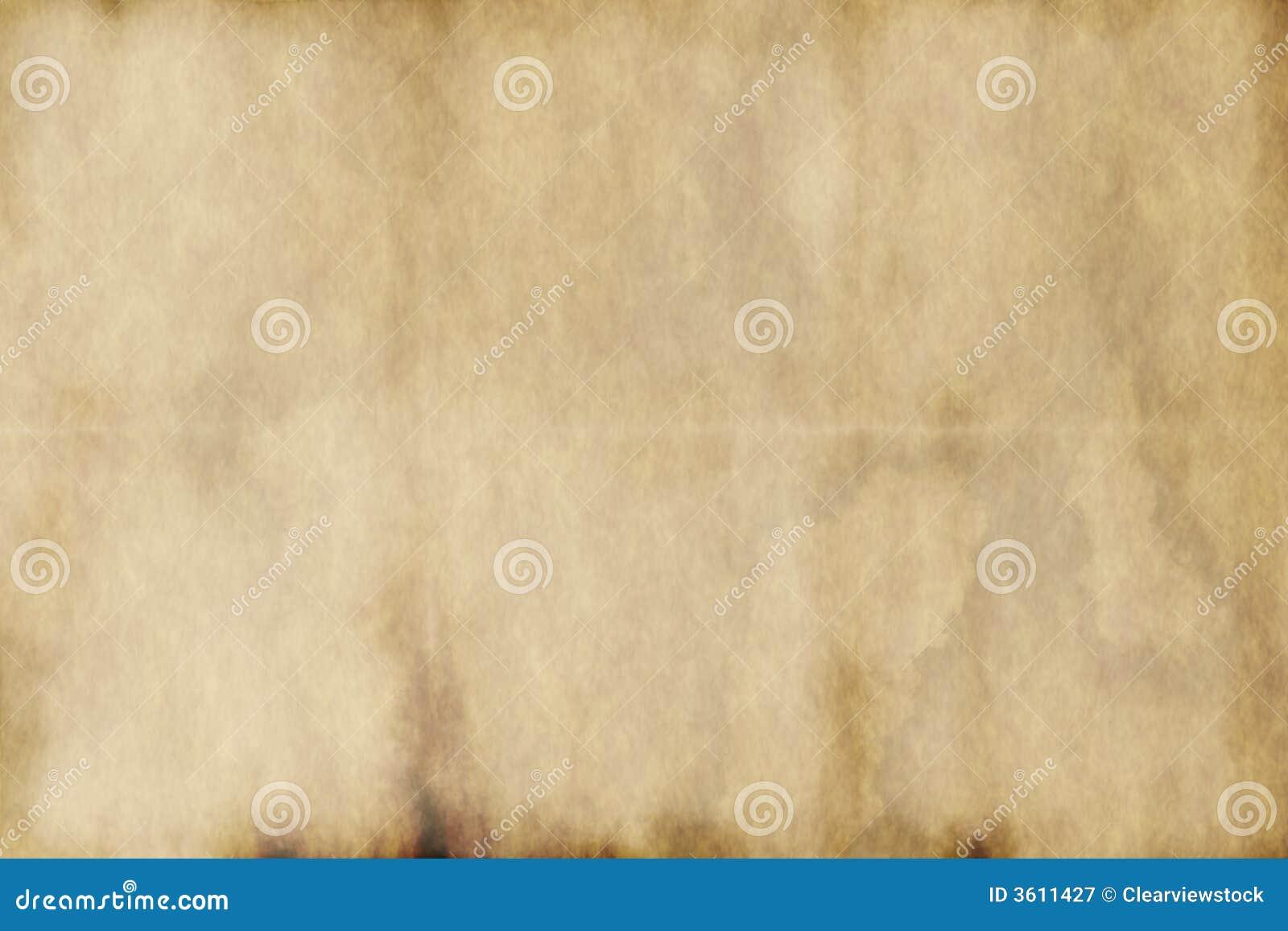 Vieux papier parcheminé usé