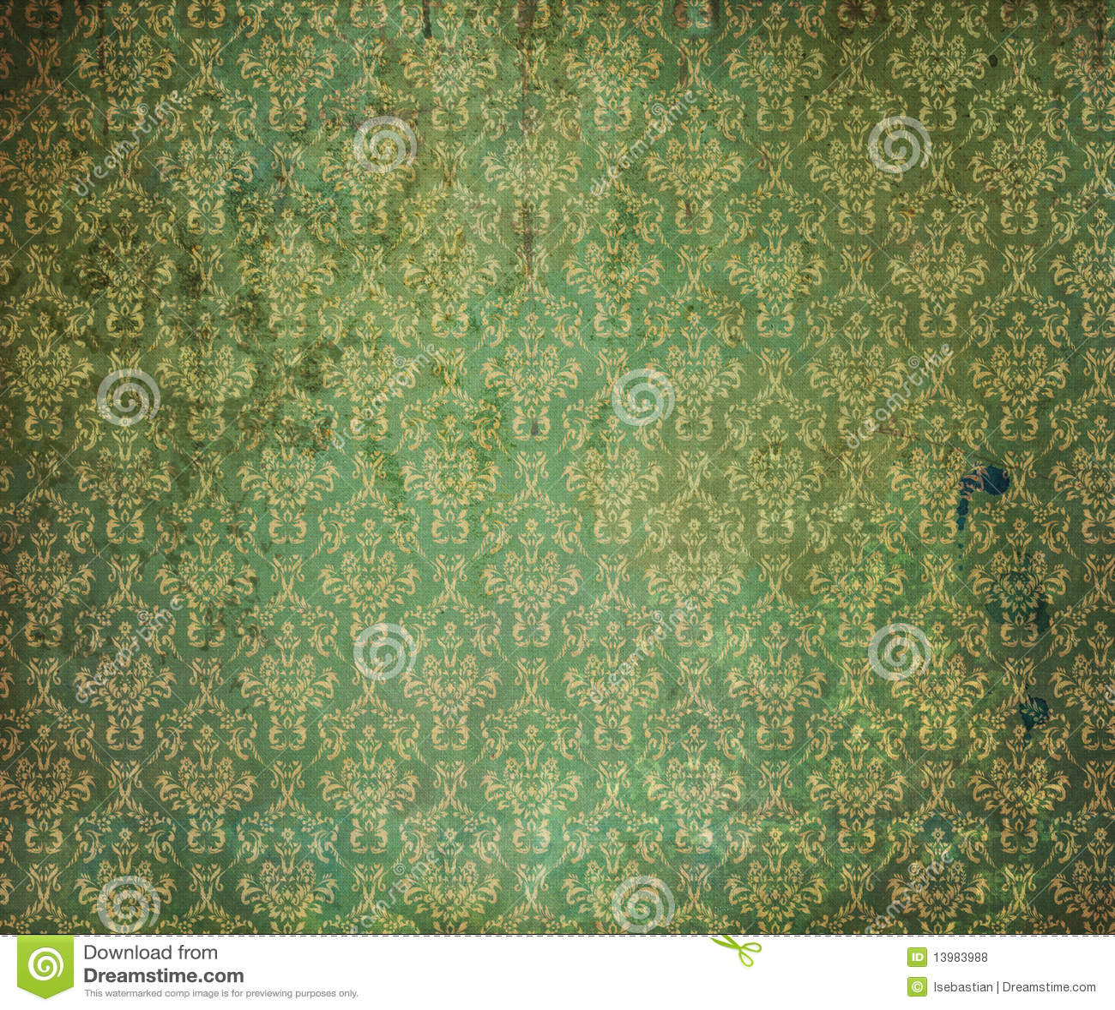 vieux papier peint vert photos libres de droits image 13983988. Black Bedroom Furniture Sets. Home Design Ideas