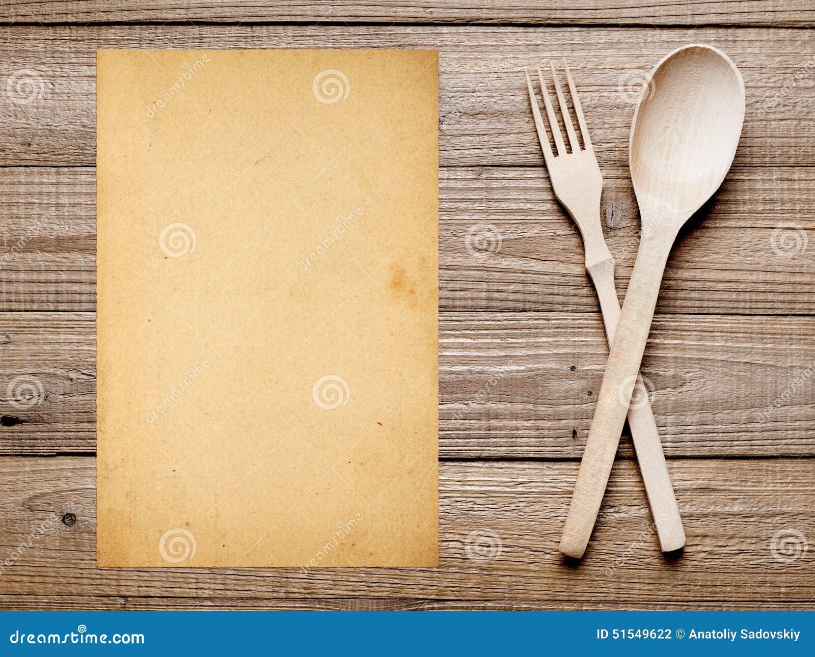 Vieux papier pour le fond de menu ou de recette photo for Fond pour les photos