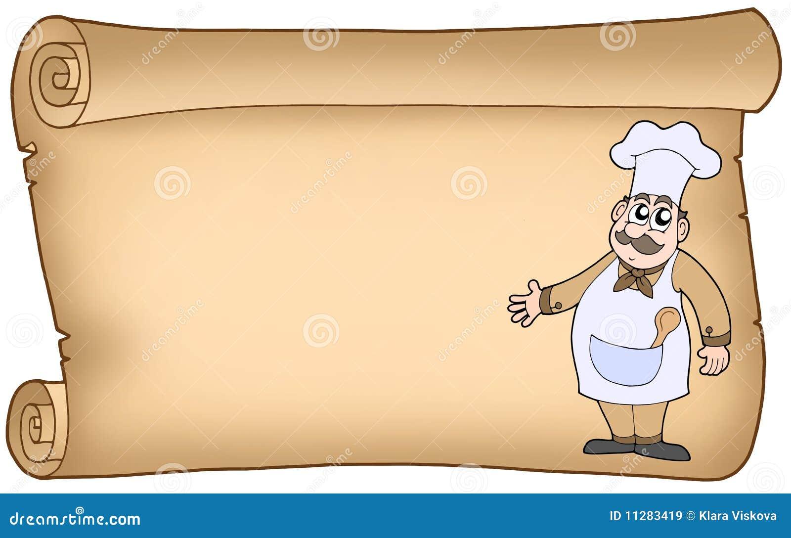Vieux parchemin avec le chef images libres de droits for Papier parchemin cuisine