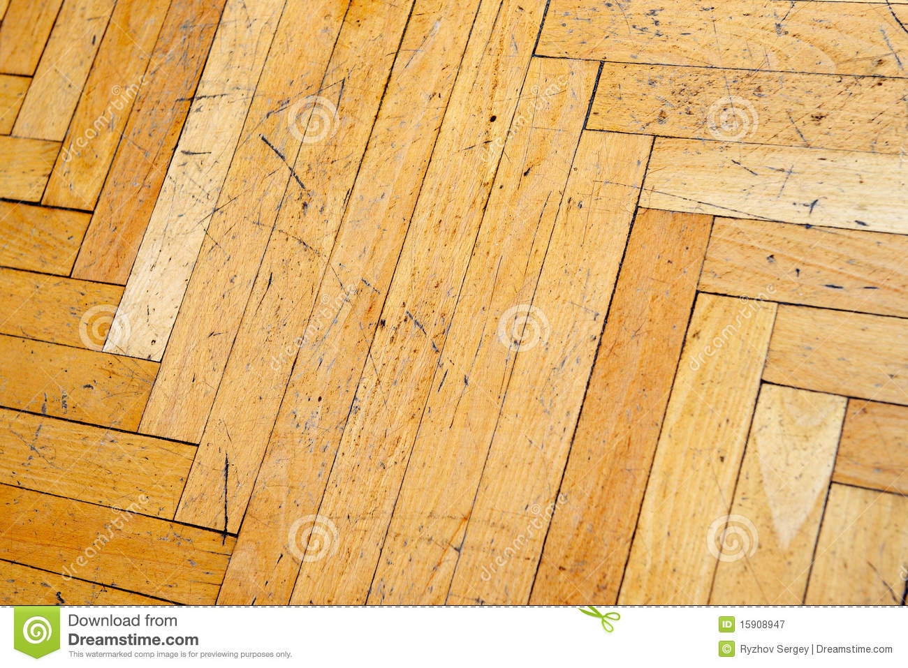 vieux parquet en bois ray image stock image du detail 15908947. Black Bedroom Furniture Sets. Home Design Ideas