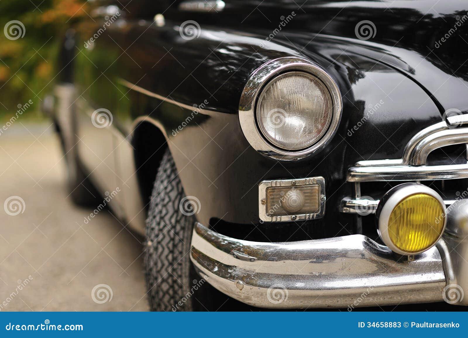 vieux phare automobile d 39 une voiture de vintage photos stock image 34658883. Black Bedroom Furniture Sets. Home Design Ideas