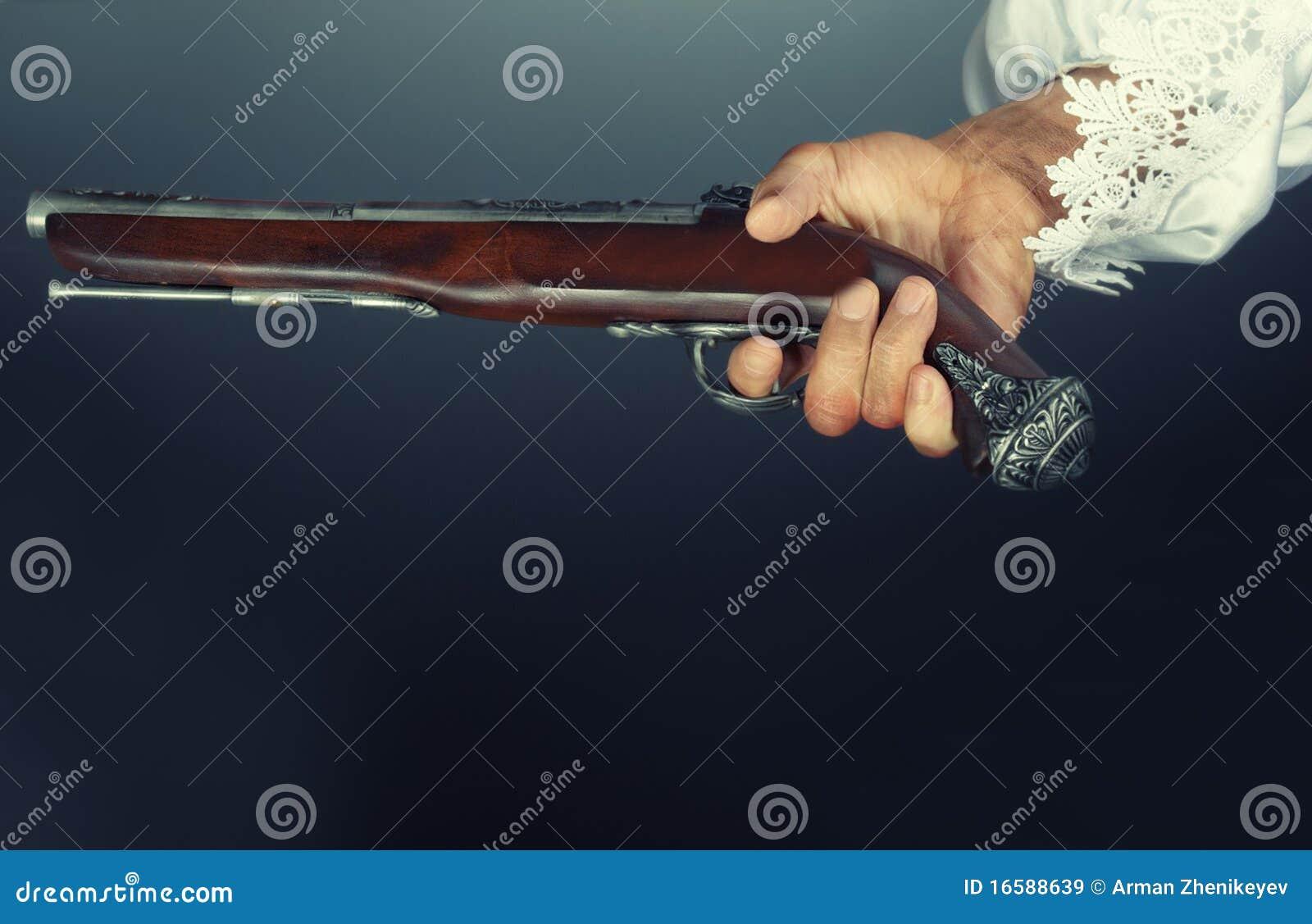 Vieux pistolet de pirate