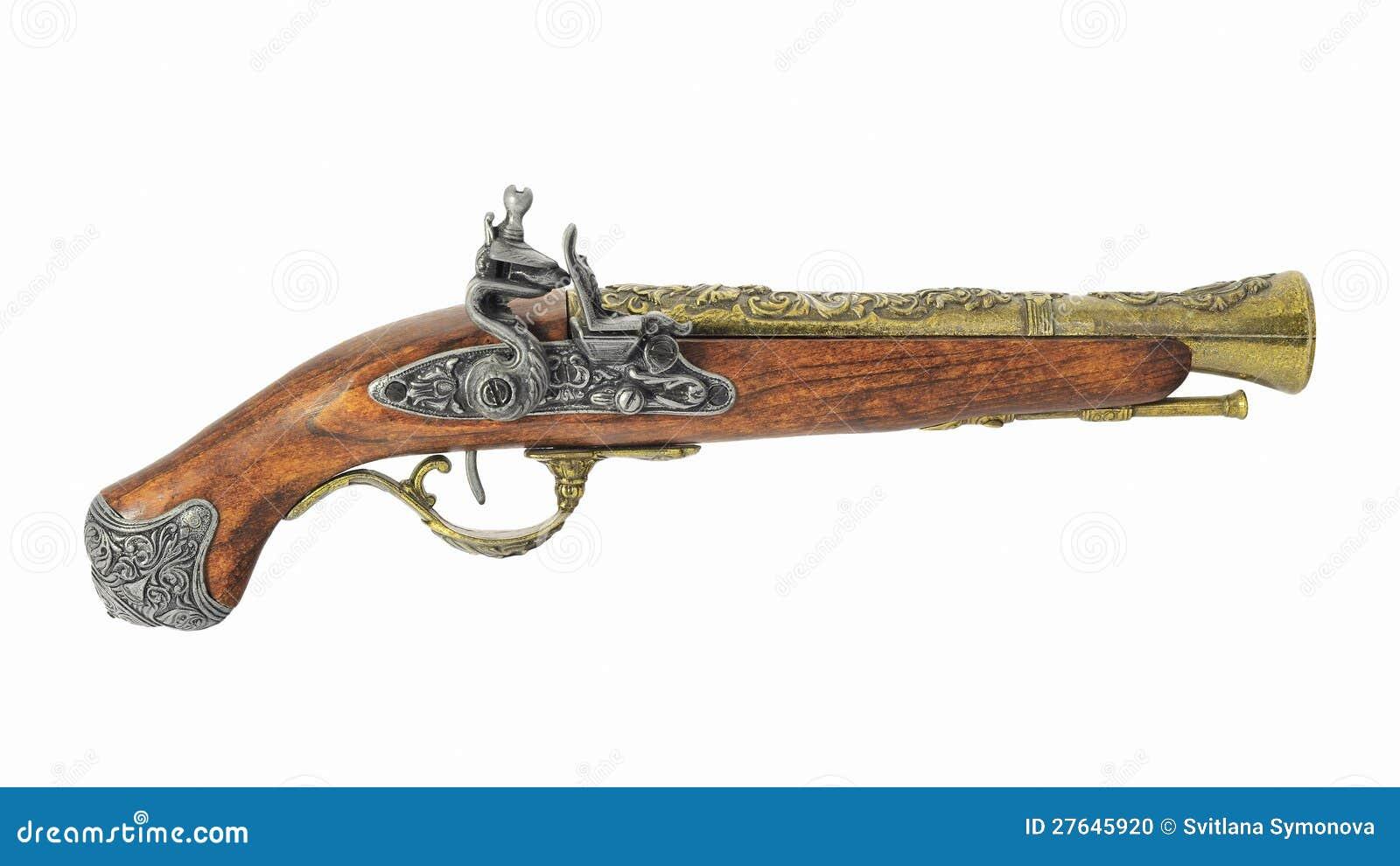 vieux pistolet de pirate photo stock image 27645920. Black Bedroom Furniture Sets. Home Design Ideas