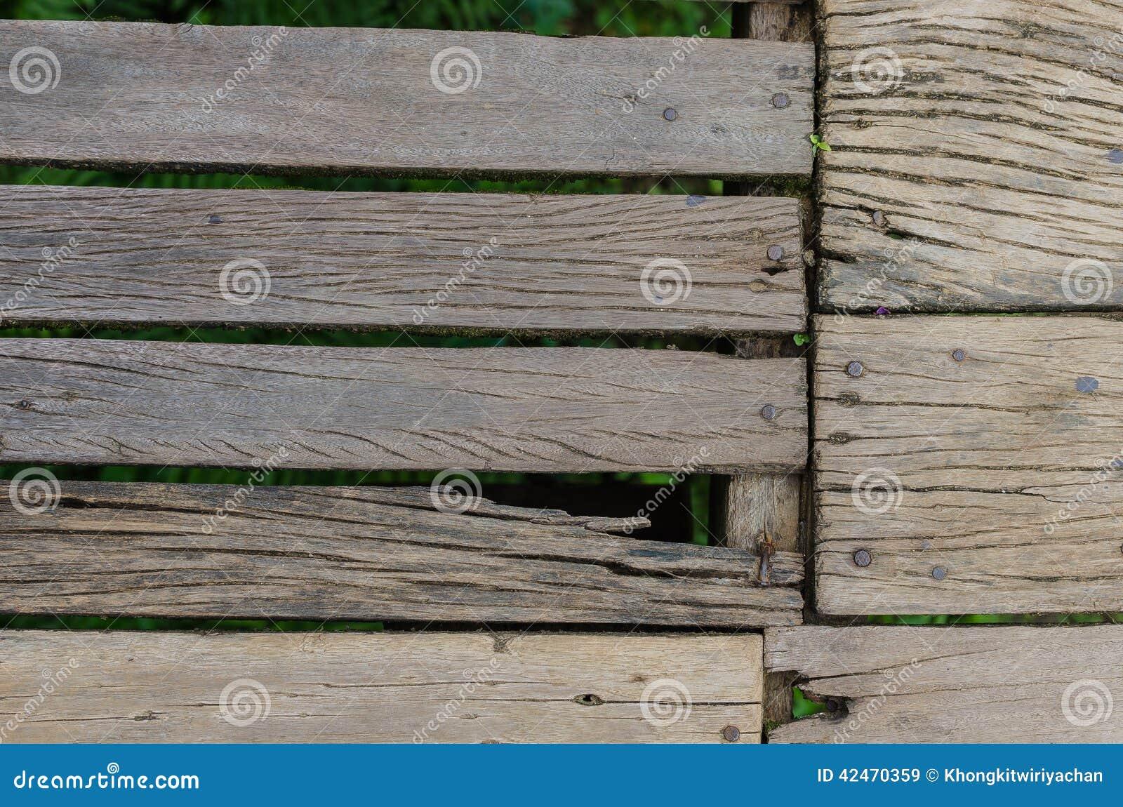 Vieux Plancher Bois - Vieux plancher en bois avec le clou