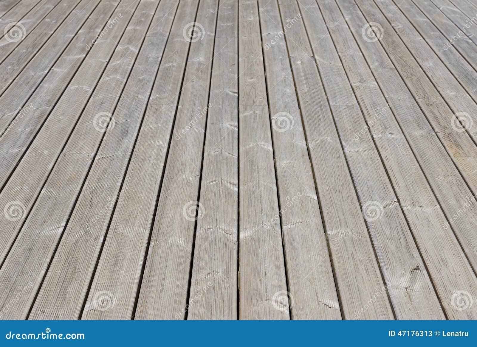 Vieux Plancher Exterieur En Bois De Terrasse Image Stock