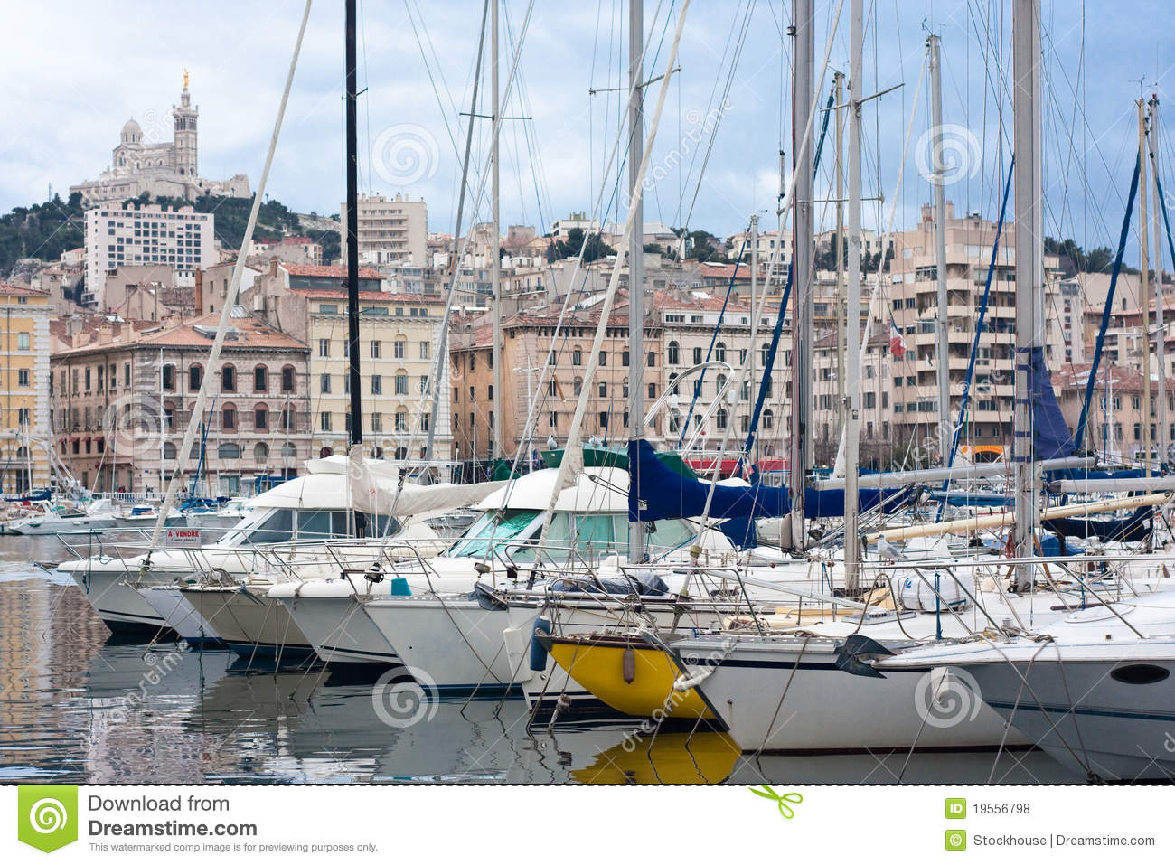 Vieux port of marseille stock photo image of landscape 19556798 - Mcdo vieux port marseille ...