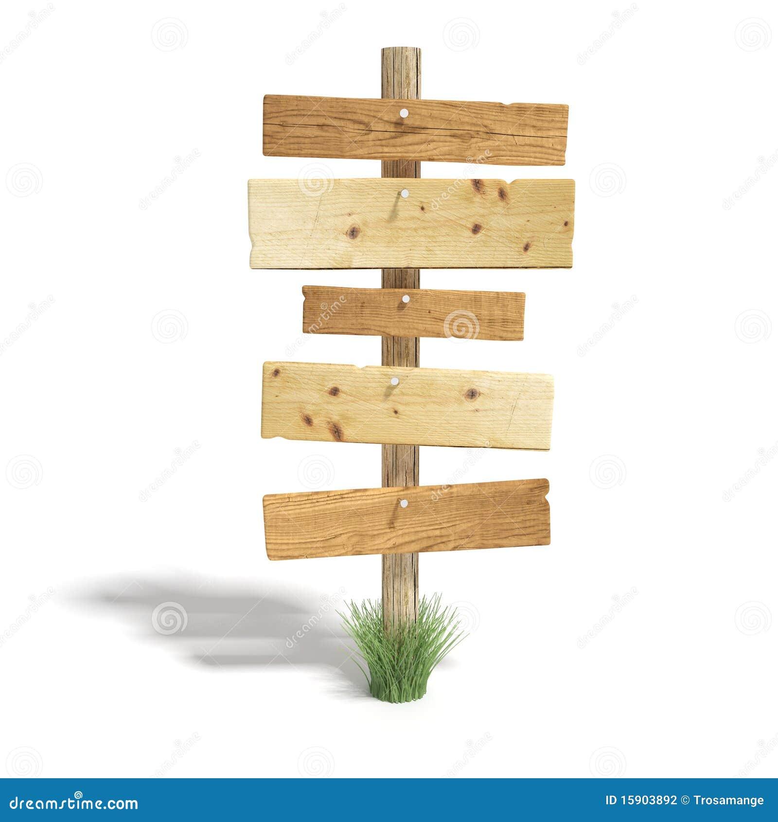 Vieux poteau de signe en bois