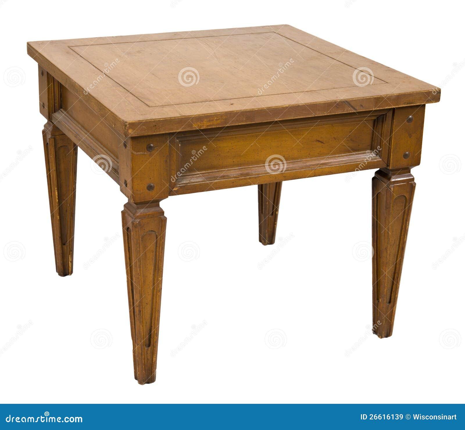 Vieux rétro meubles de Tableau d extrémité d isolement sur le blanc