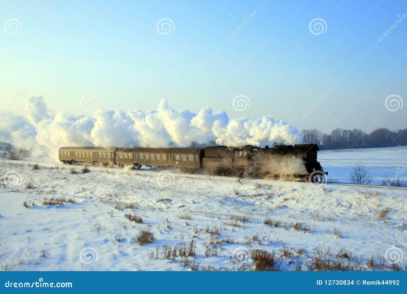 Vieux rétro train de vapeur