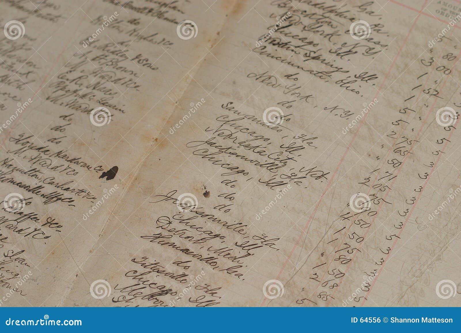 Vieux registre