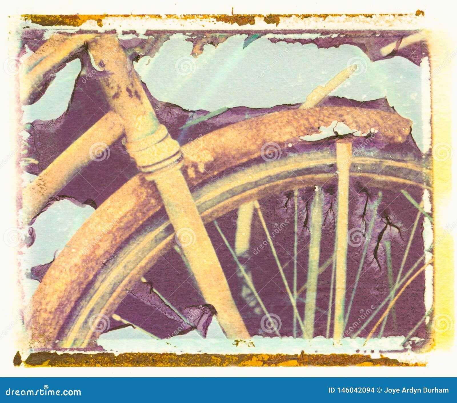 Vieux Rusty Bike comme transfert d images