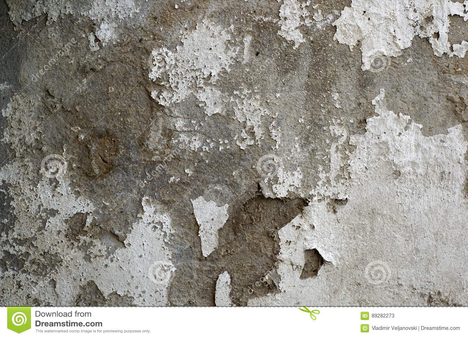 Vieux, sale mur peint sale de plâtre