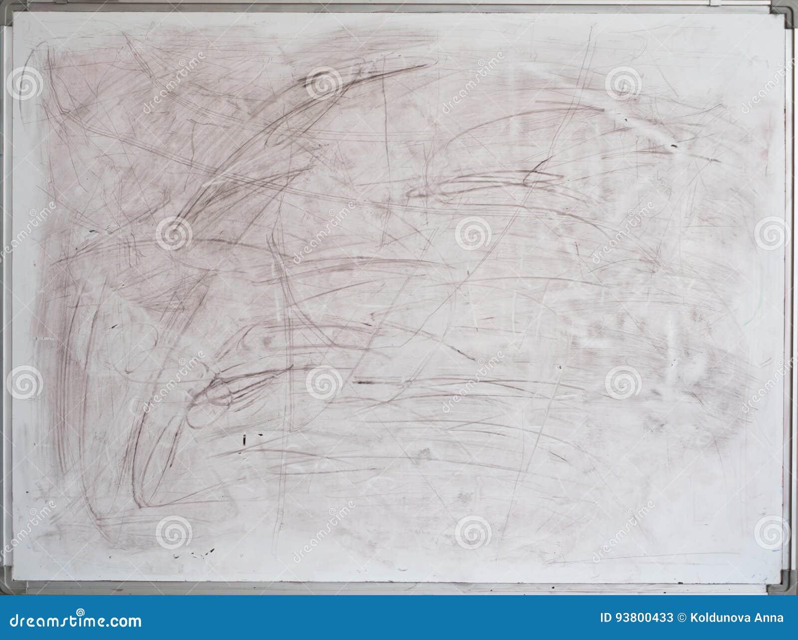Vieux tableau blanc sale pour le bureau illustration stock