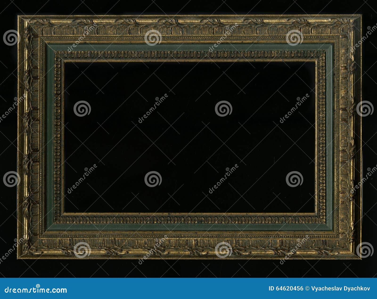 Vieux, vintage, cadre antique d isolement sur le fond noir