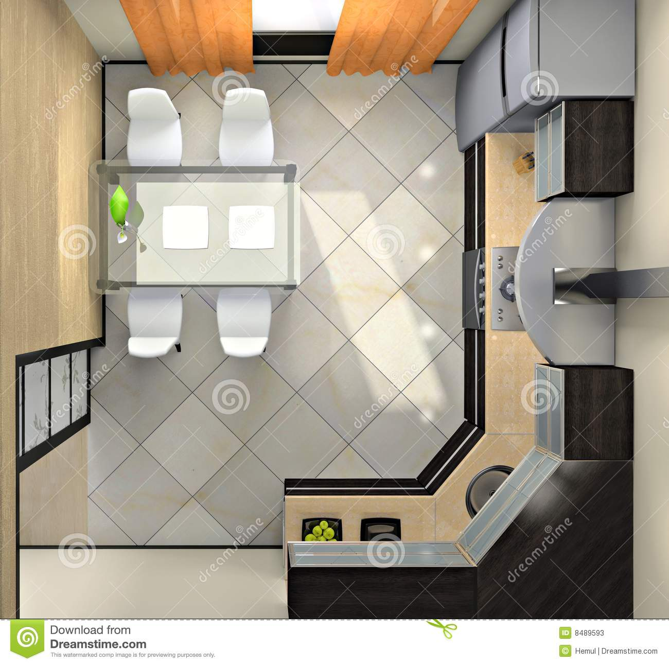 View from above on the kitchen stock photos image 8489593 Table vue de haut