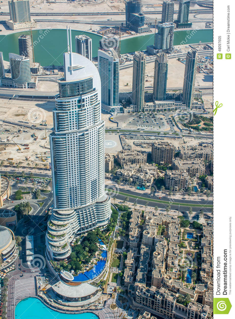 View of the address hotel from burj al khalifa dubai for List of hotels in dubai with contact details