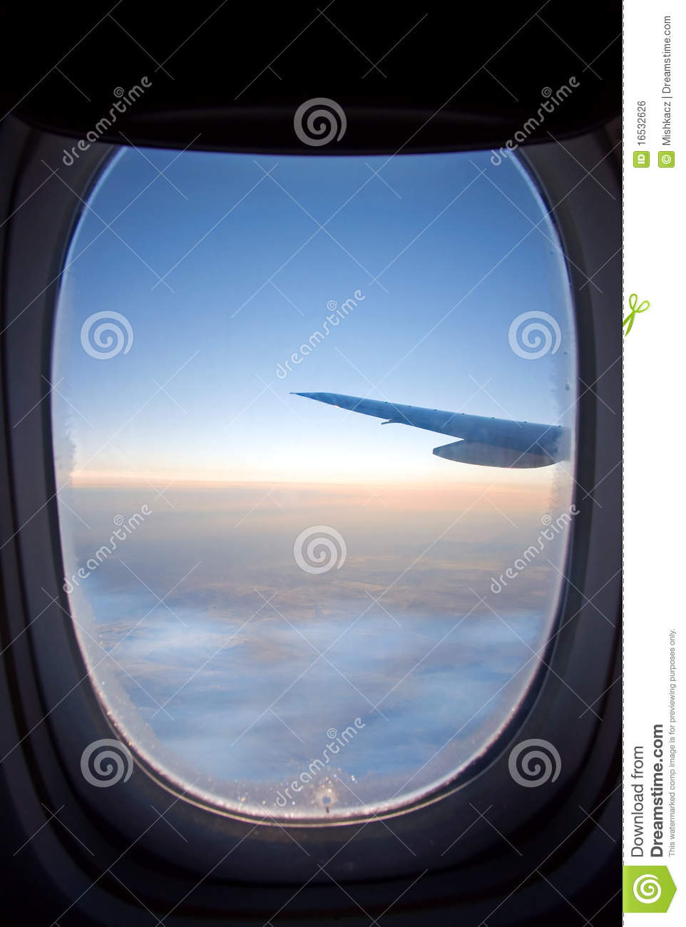 View From Airplane Window Stock Photo Image Of Airline