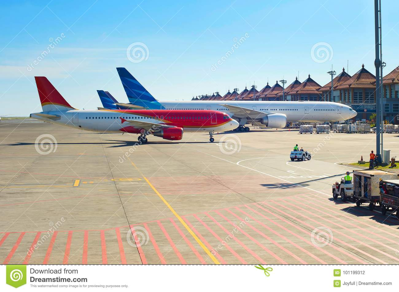 Airport Overview Bali Indonesia Stock Photo Image Of Flight