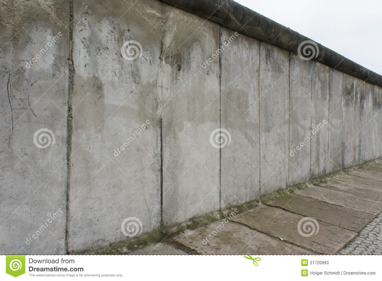View Along The Berlin Wall Berlin Germany Stock Image
