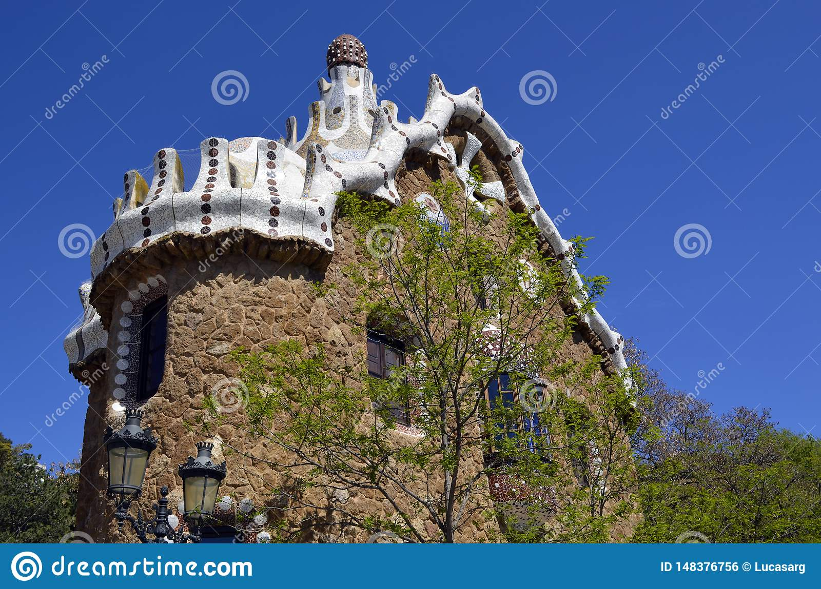View of Antoni Gaudi s Park Guell, Barcelona, Spain.