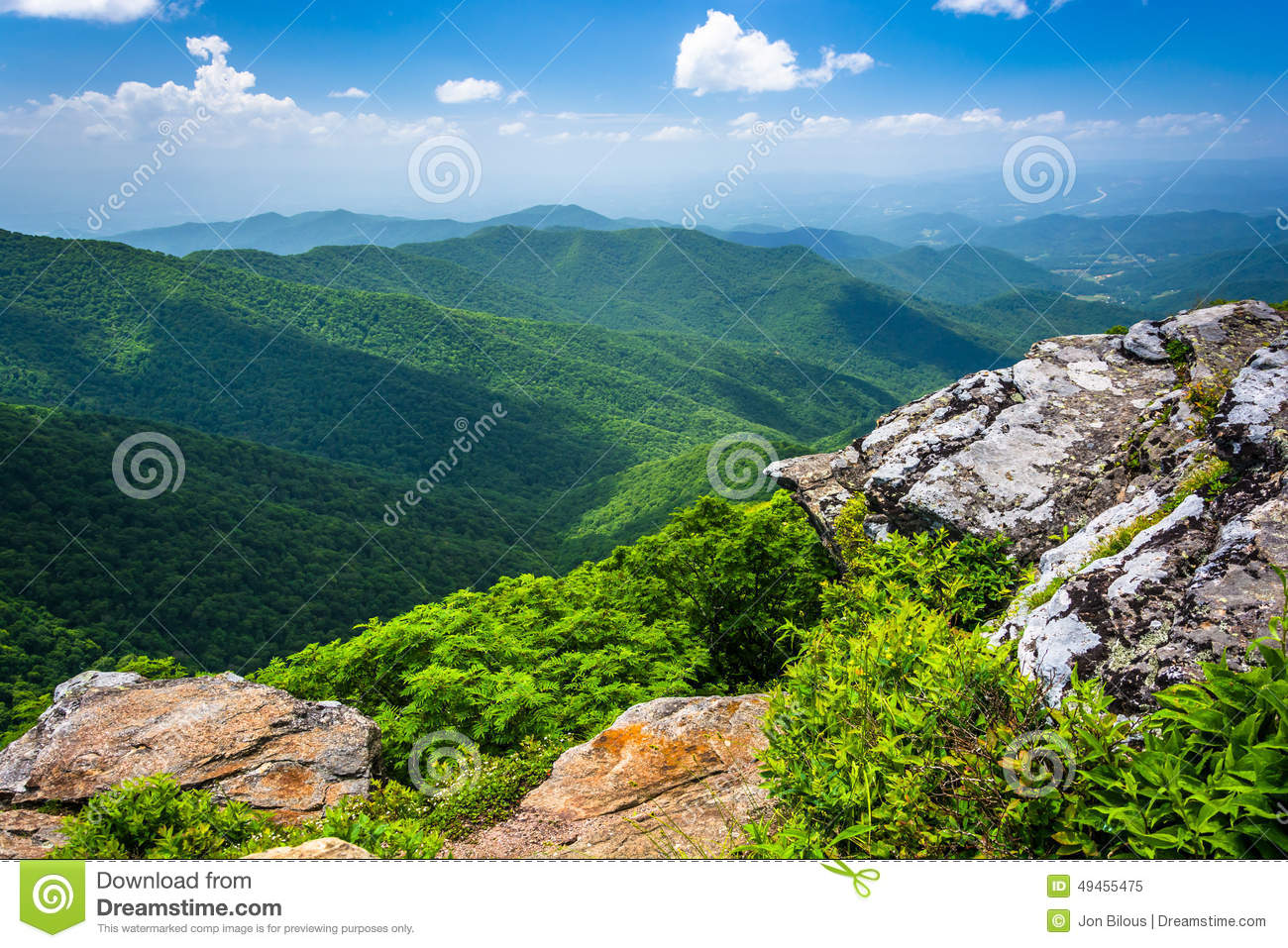 View of the Appalachian Mountains from Craggy Pinnacle, near the