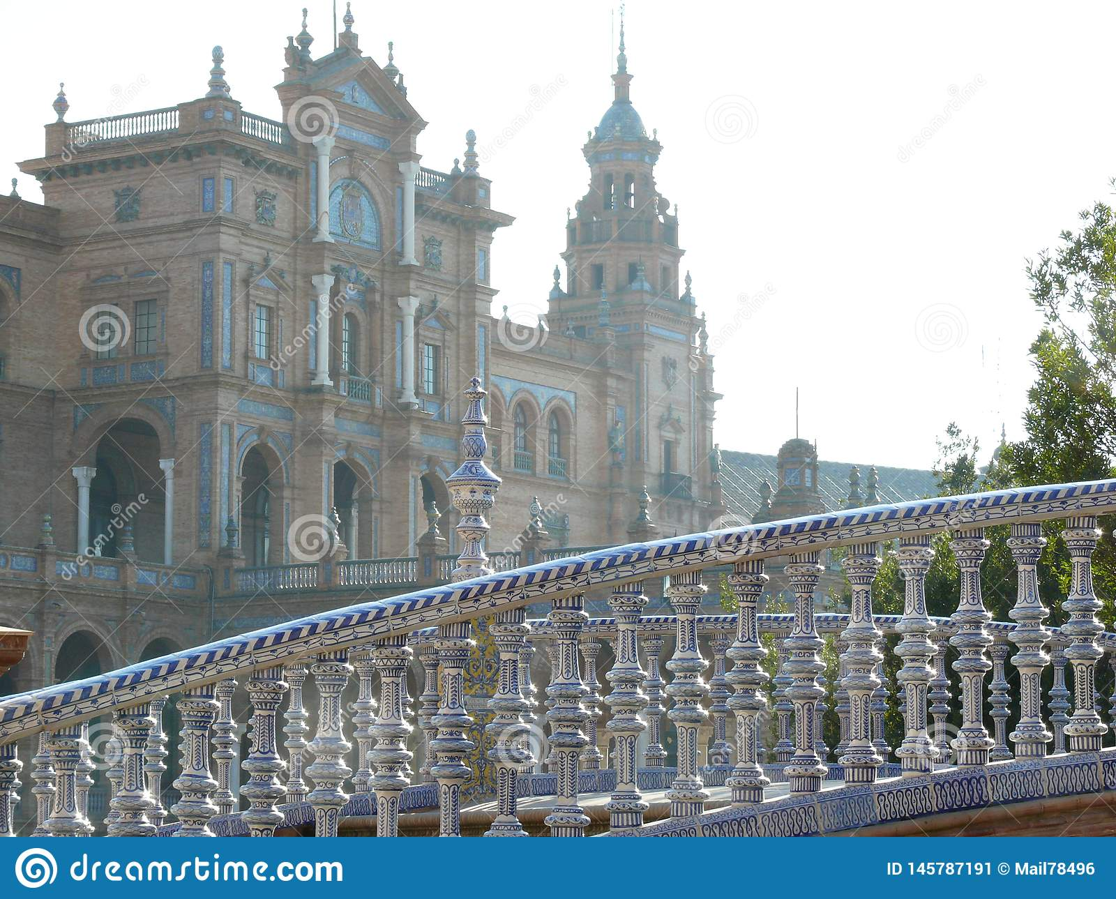 Sevillla, Spain, 01/02/2007. Royal Palace Square. Bridge
