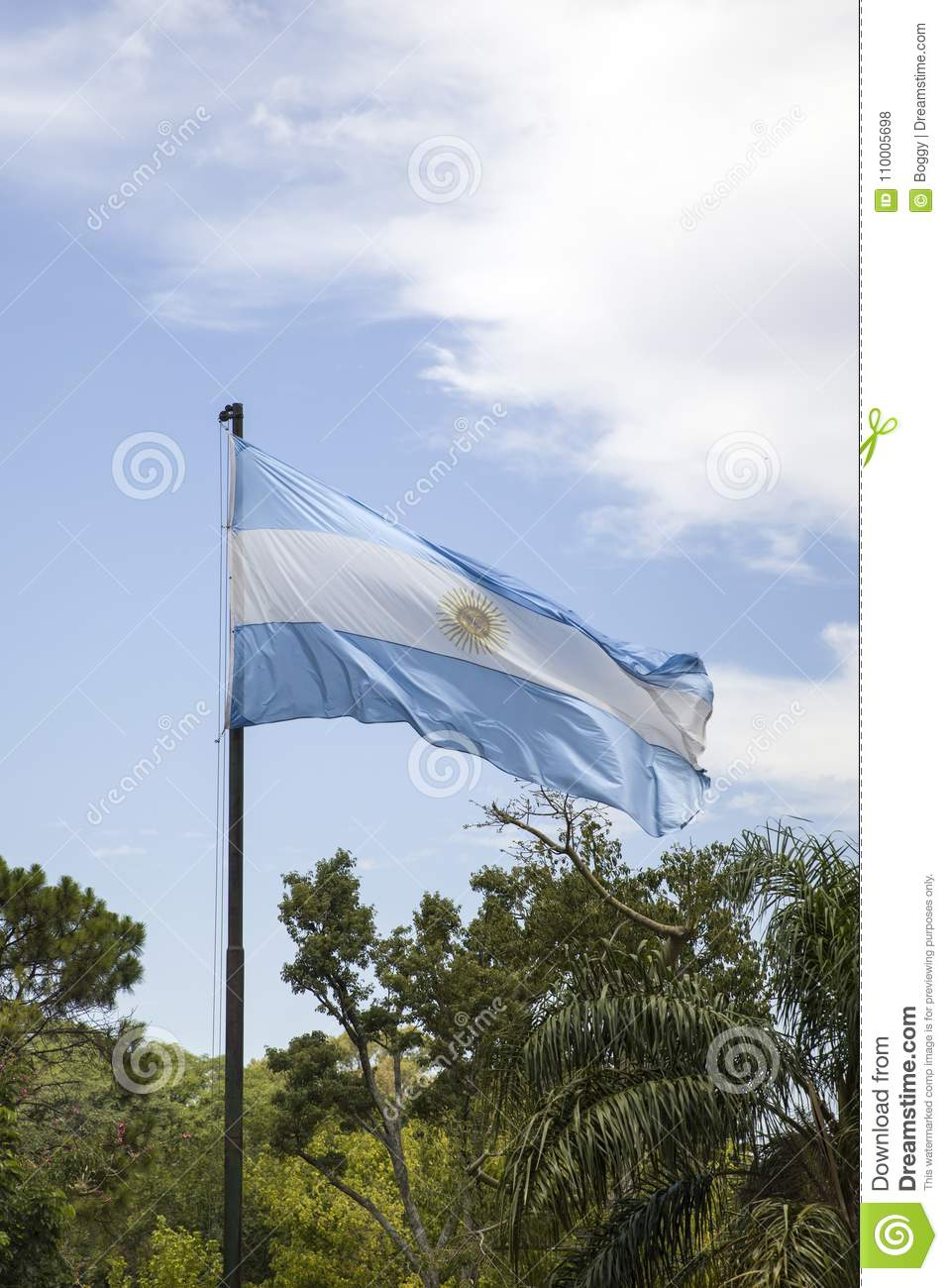 Argentina flag in Buenos Aires