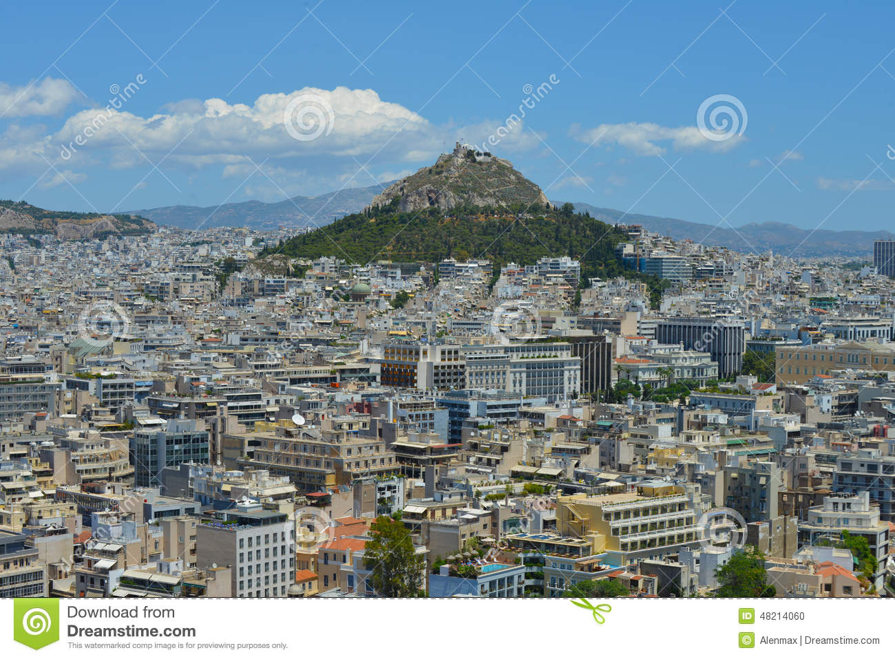 View Of Athens Greece Stock Photo Image 48214060