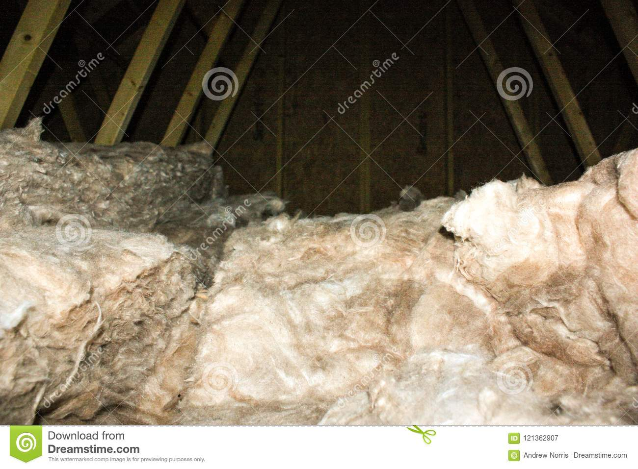 Attic Insulation stock image  Image of asbestos