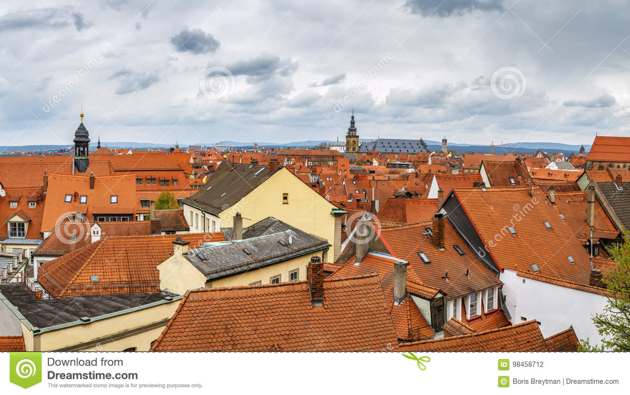 View of Bamberg, Germany stock photo. Image of urban - 98458712