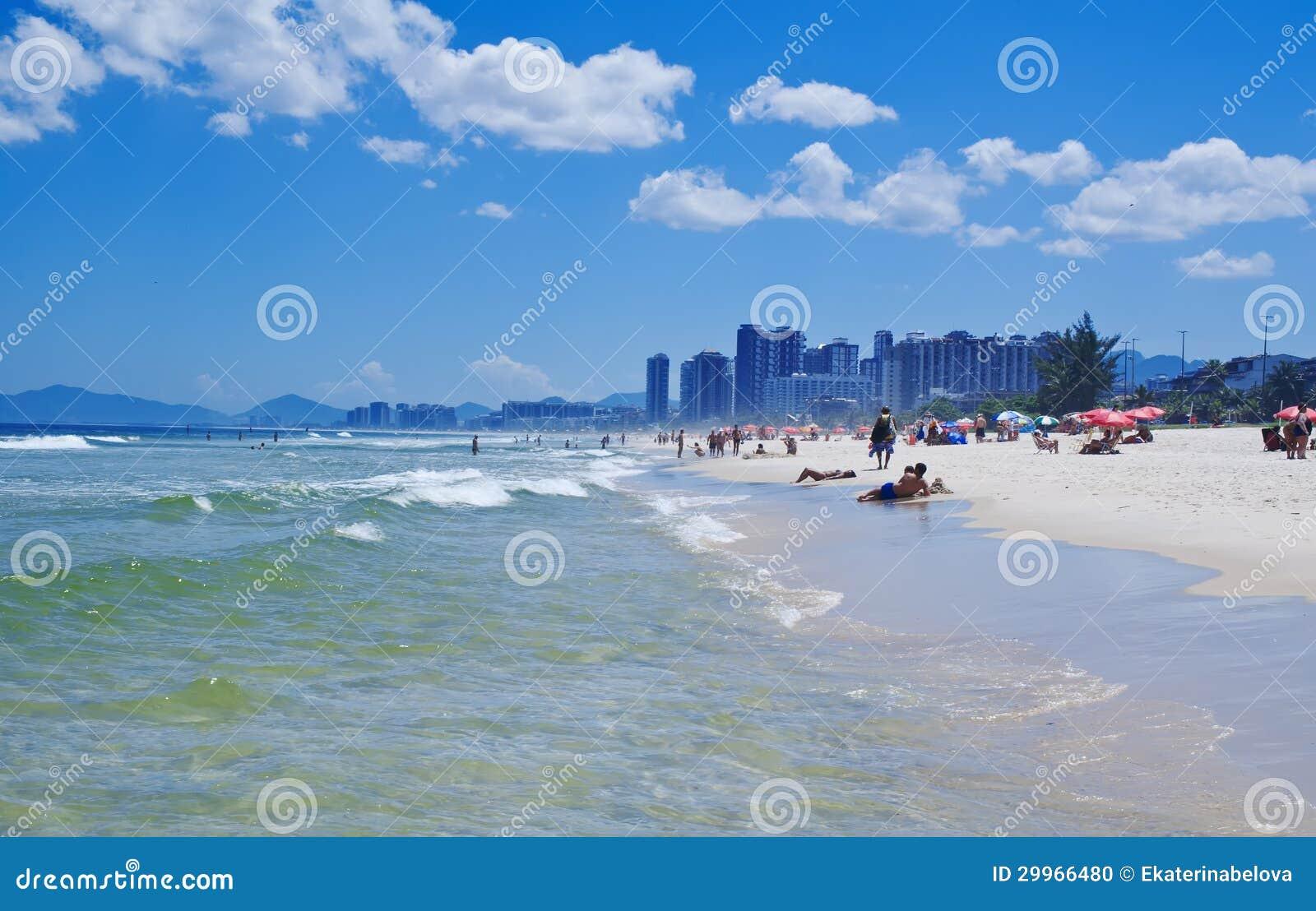 View of Barra da Tijuca beach in Rio de Janeiro