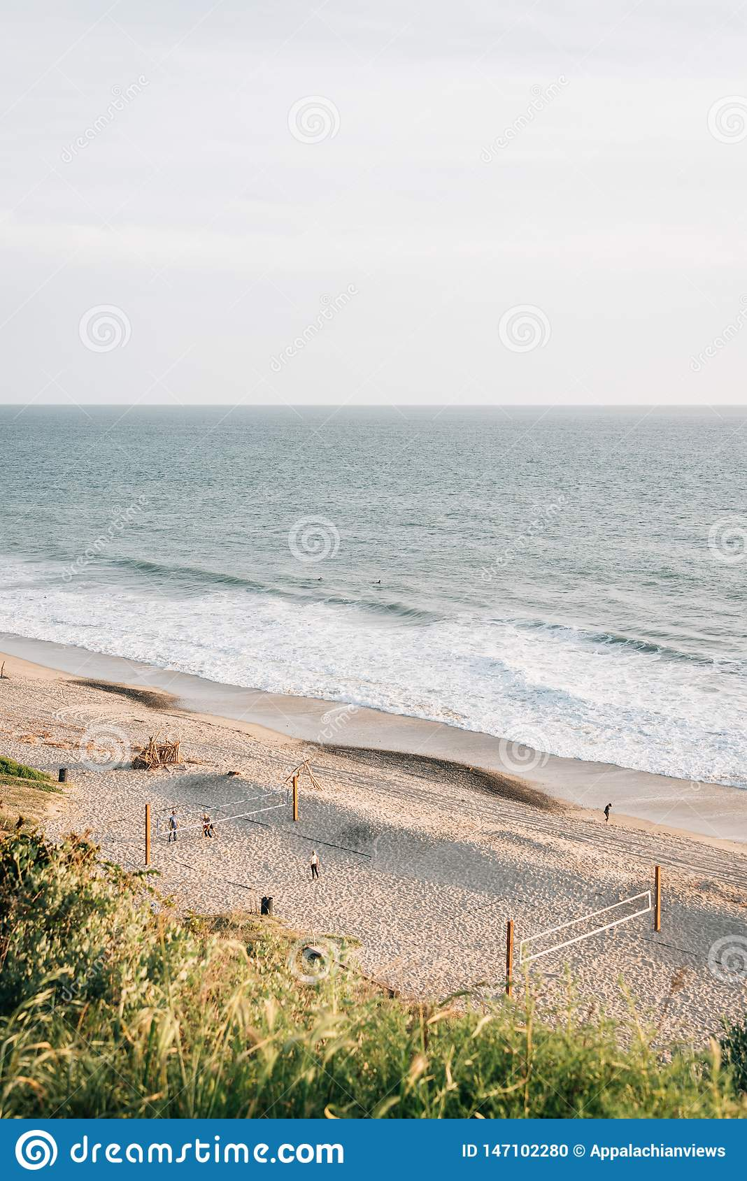 View of a beach from Leslie Park in San Clemente, Orange County, California