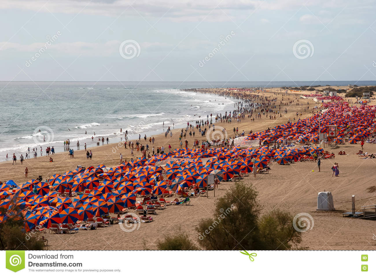View Of The Beach From Playa Del Ingles To Maspalomas Gran