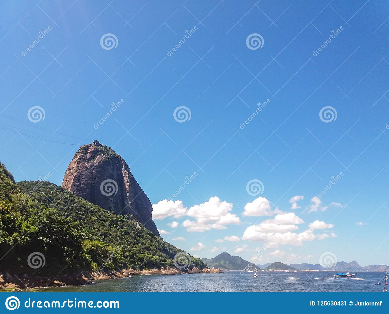 Beaches mountains and city of Rio de Janeiro in Brazil