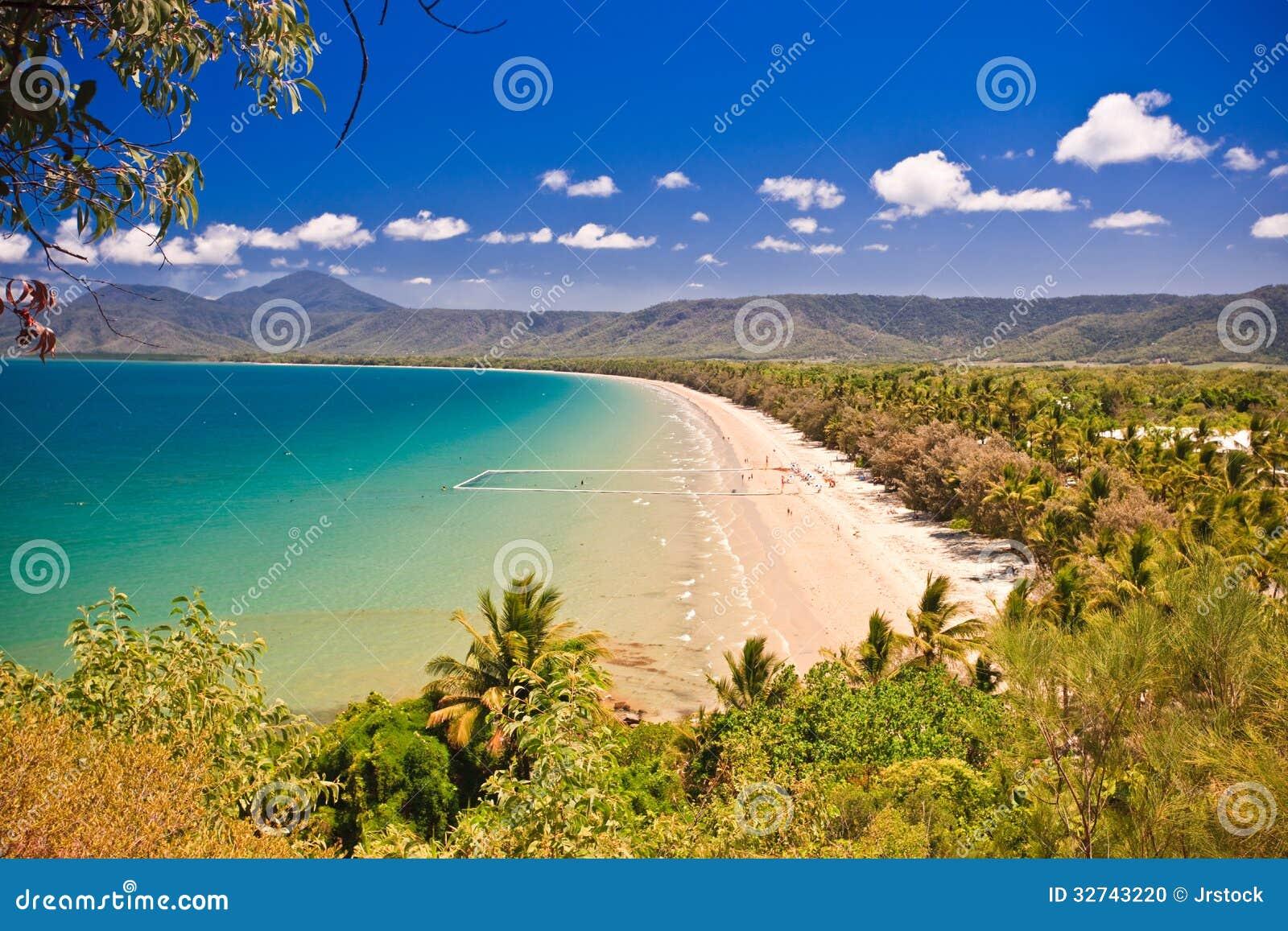 View of a beautiful tropical beach