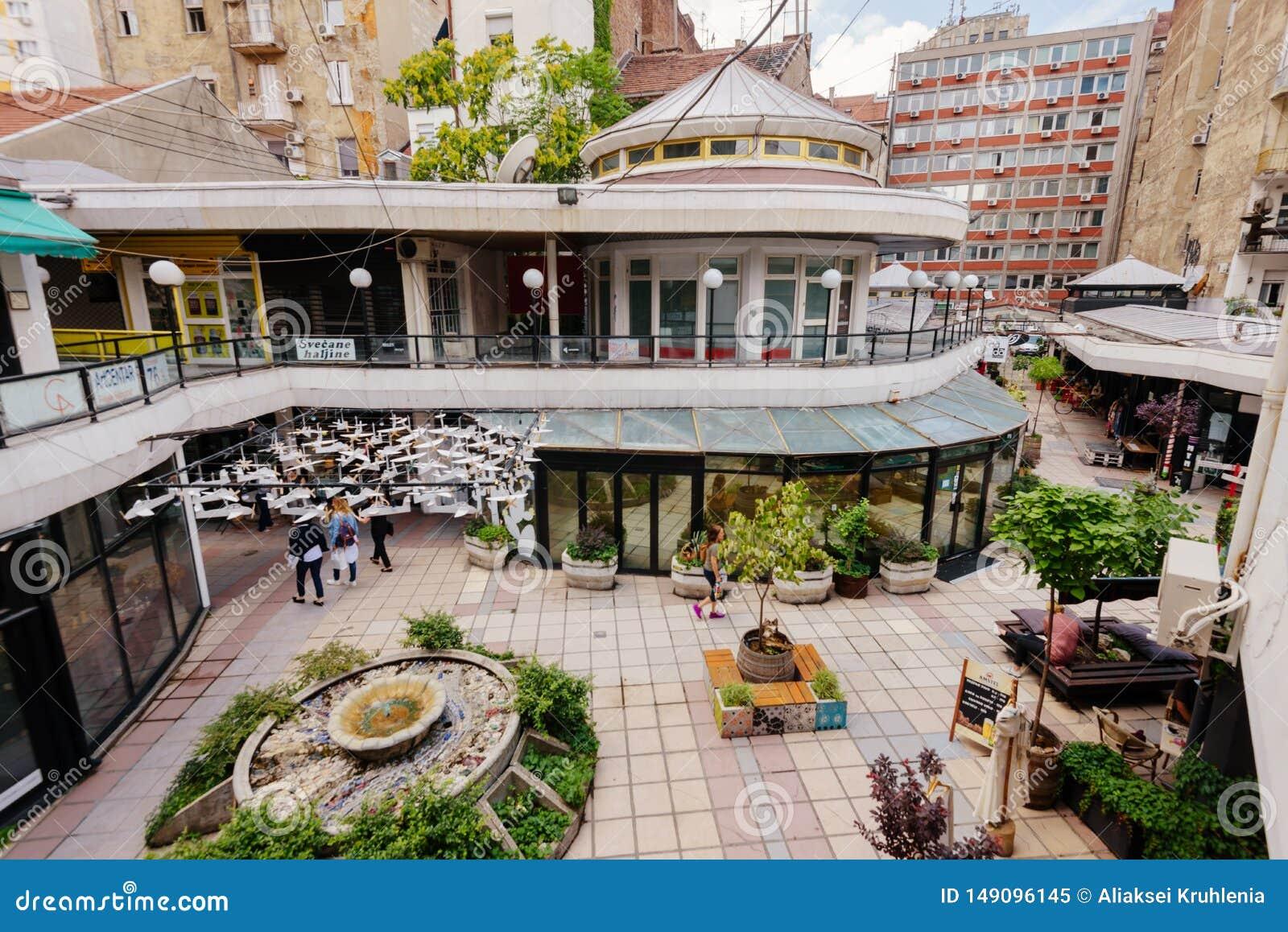 View Of Belgrade Design District In Summer Editorial Image