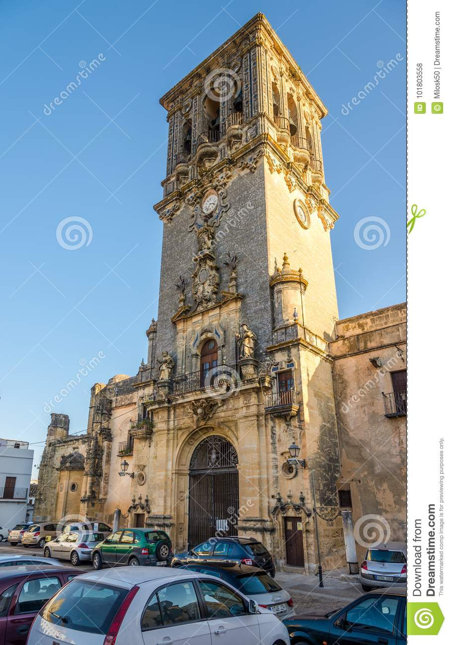 204237b9c View At The Bell Tower Of Church Santa Maria In Arcos De La Frontera ...