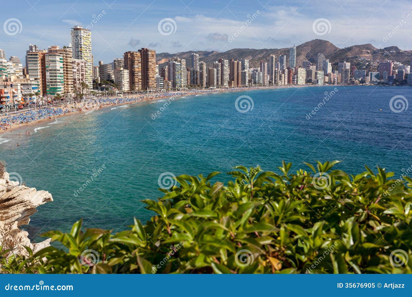 Benidorm - Costa Blanca Spain  city photos : View Of Benidorm, Costa Blanca, Spain Royalty Free Stock Photo Image ...