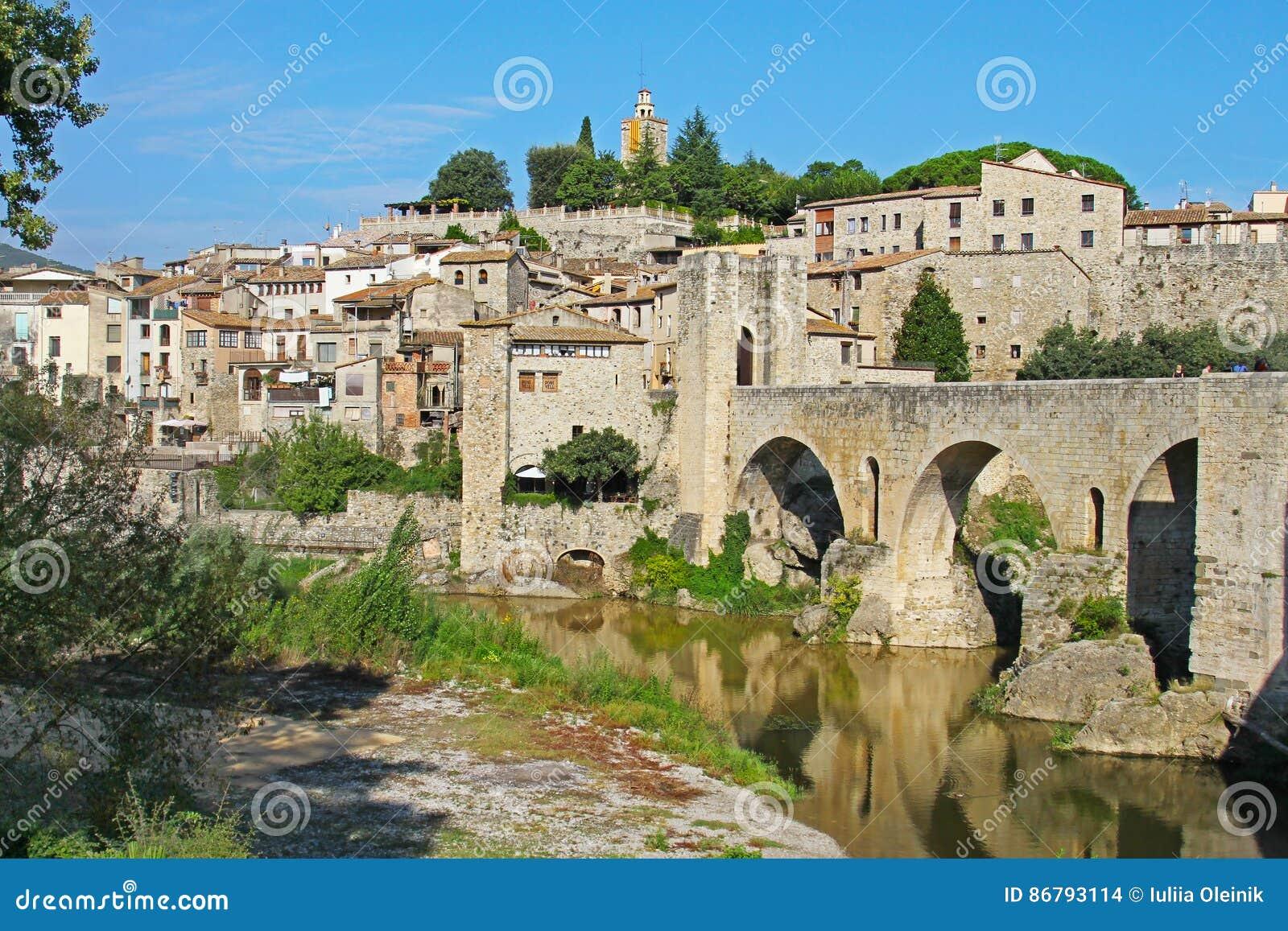 View of Besalu village Catalonia, Spain