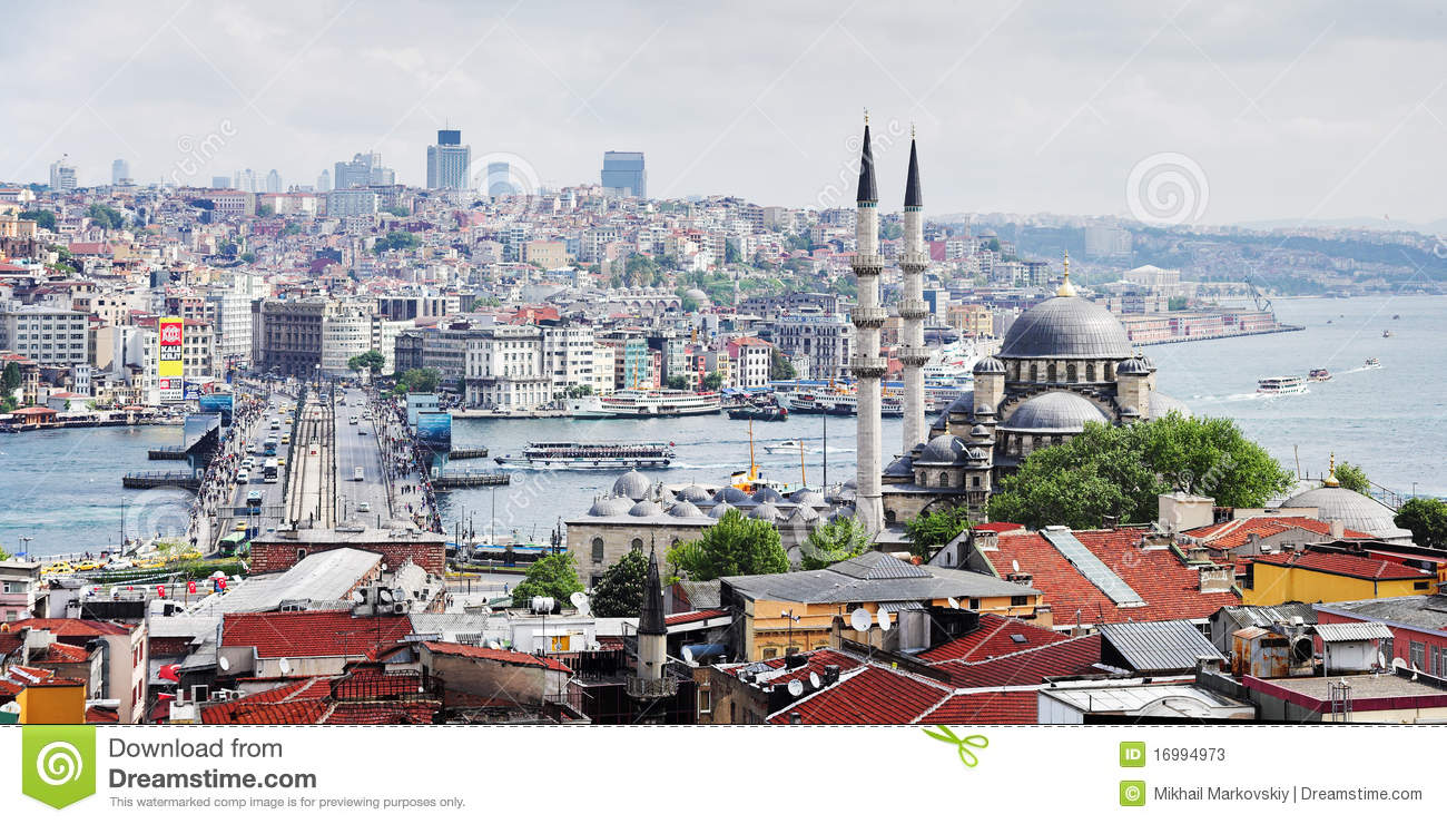 View of the Bosphorus and Istanbul