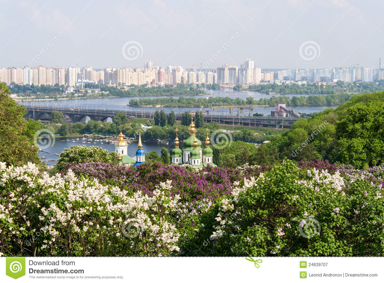 View Of Kiev From The Botanical Garden Royalty Free