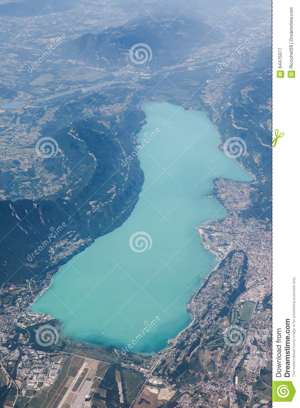 View of bourget lake in aix les bains france stock image for Aixe les bains