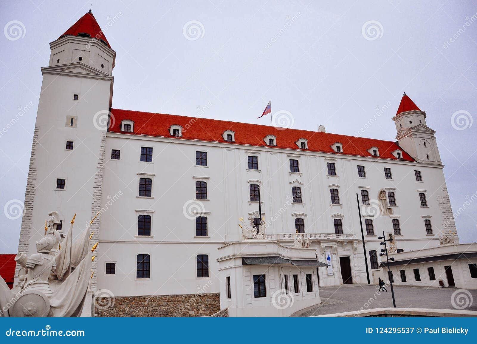 A view of Bratislava Castle, Bratislava, Slovakia.