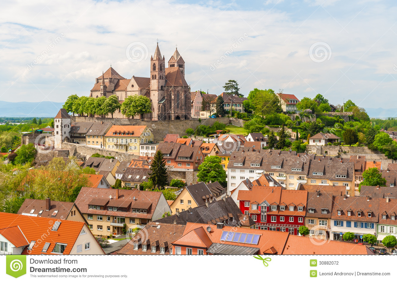 view of breisach town baden wurttemberg germany stock photo image 30882072. Black Bedroom Furniture Sets. Home Design Ideas